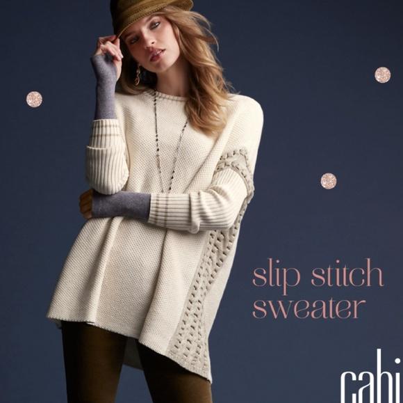 CAbi Sweaters - Cabi Slip Stitch Woven Oversized Sweater XS  3681 783adcf2789